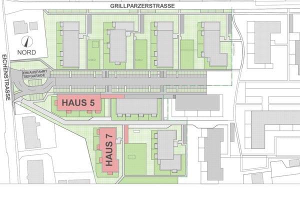 Grillparzerstr-Lageplan Haus 5-7